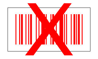 Barcode rot auf weiß