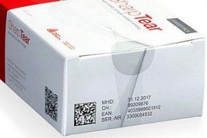 Boîte de médicament avec étiquette d'inviolabilité Tamper Evident