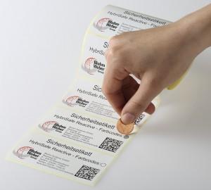 Etiquettes anti-contrefaçon