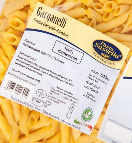 Etiketten Lebensmittel mit Etiketten