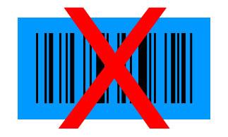Barcode schwarz auf blau
