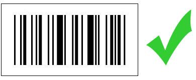 Barcode schwarz/weiss