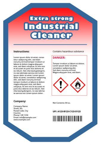 Étiquette du produit avec identificateur de formule unique (UFI)