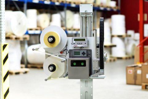 Système impression et dépose d'étiquettes