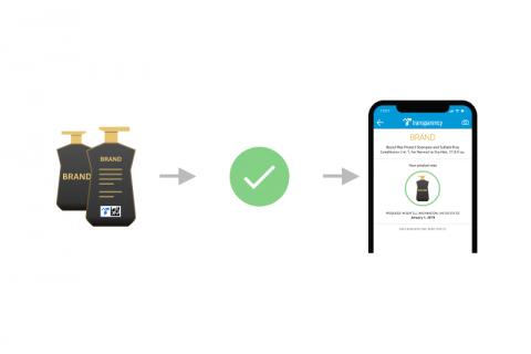 Authentification du produit Amazon Transparency via l'application